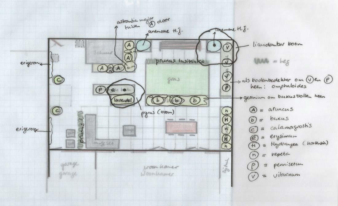 Beplantingsplan tuinontwerp 2